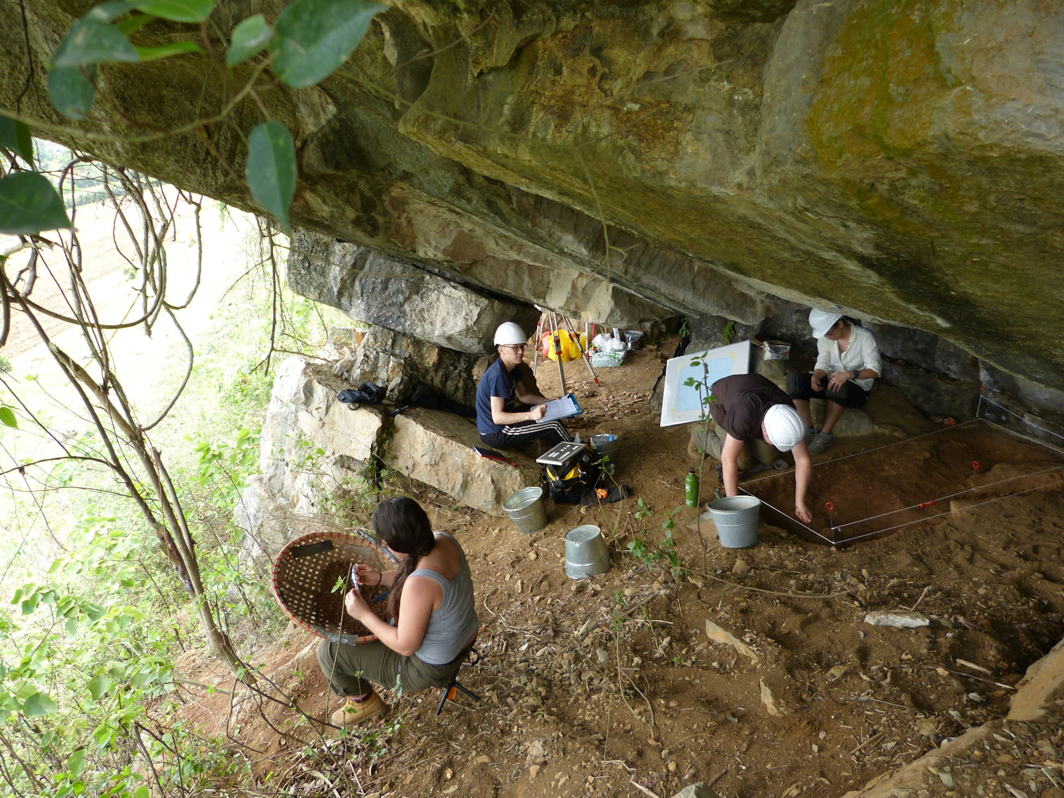 Excavations underway at Thung Binh 1