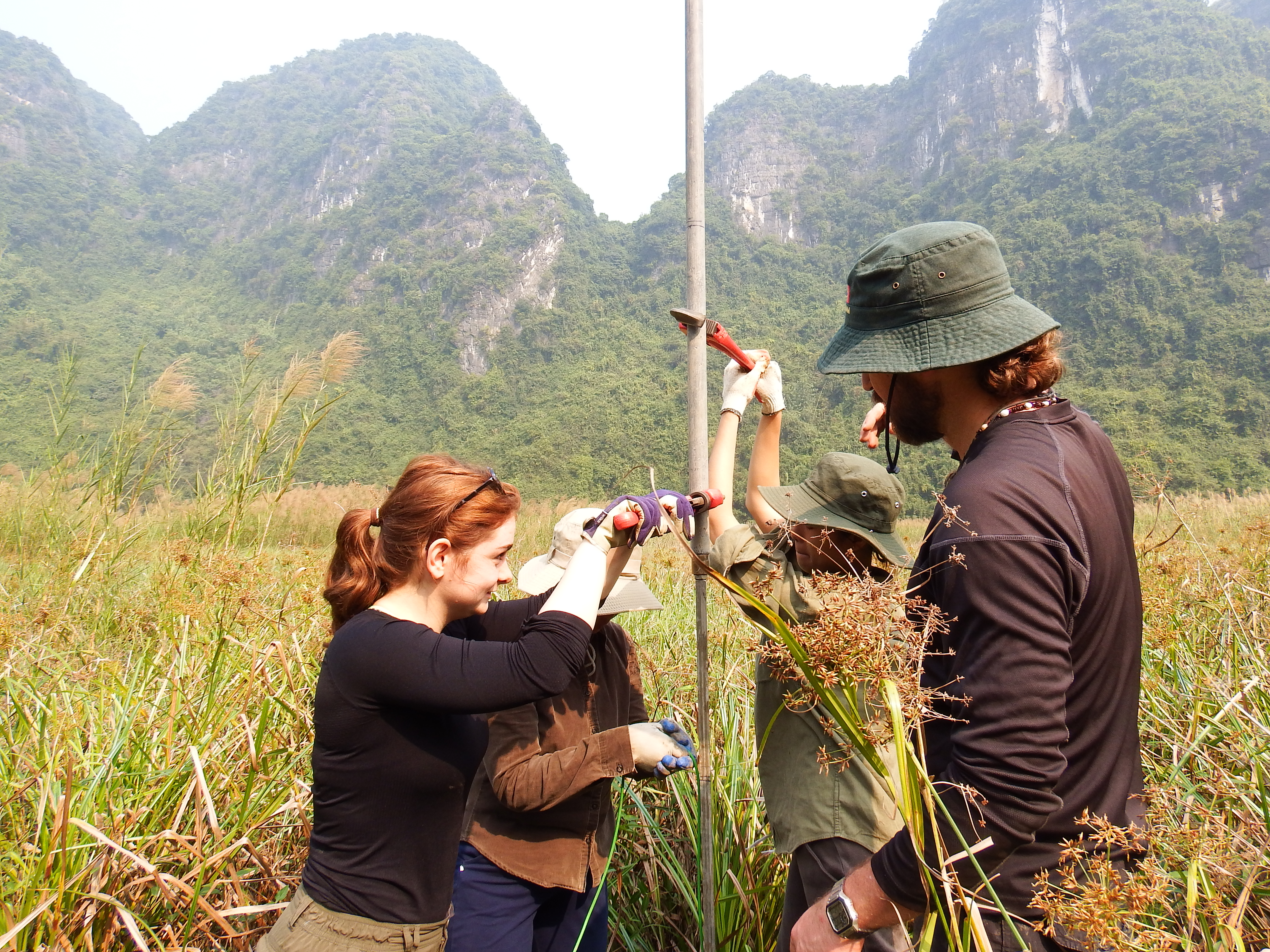 Coring for clay samples